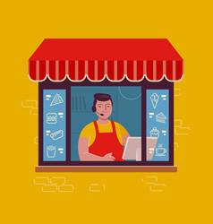 takeaway food restaurant eatery menu vector image