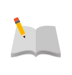 text book school with pencil vector image vector image