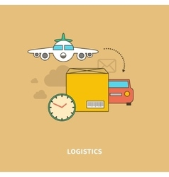 Timely Delivery Important Part of Logistics Chain vector
