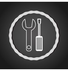 Tool equipment line icon vector