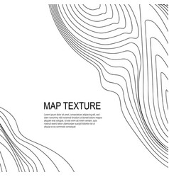 Topographical terrain map with line contours vector