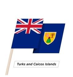 Turks and Caicos Islands Ribbon Waving Flag vector image