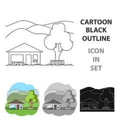 vacation homerealtor single icon in cartoon style vector image
