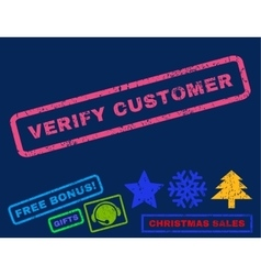 Verify Customer Rubber Stamp vector