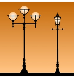 Vintage street light vector image