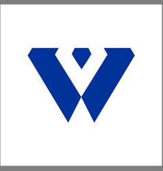 w company logo and symbol design vector image