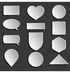 white icons set vector image