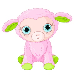 Cute lamb character vector