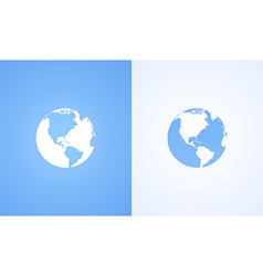 Icon of World Globe vector image vector image