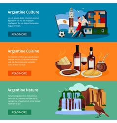 Touristic Argentina Flat Banners Website Page vector image vector image