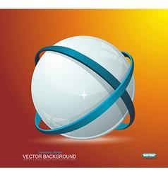 Abstract globe symbol internet and social network vector image