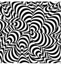 abstract striped background spiral vortex vector image