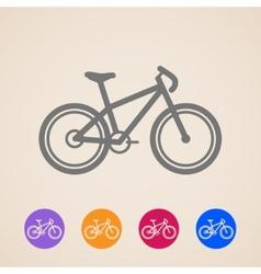 bike icons vector image vector image