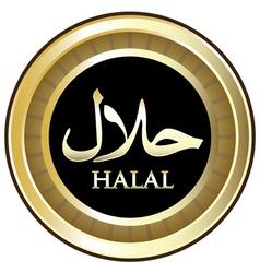Halal Gold Label vector image