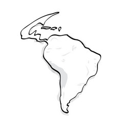 outline of a map vector image vector image