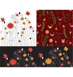 poppy patterns vector image