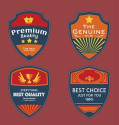 set of vintage badges vector image