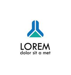 abstract building symbol logo vector image
