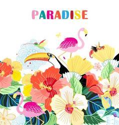 Beautiful of bird of paradise vector image