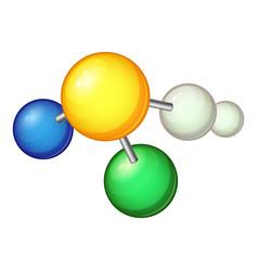 biology molecule icon cartoon style vector image vector image