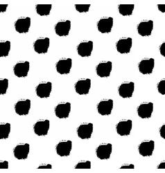 Hand drawn black dots seamless pattern vector image