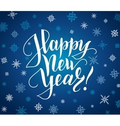 Happy new year card lettering over background vector