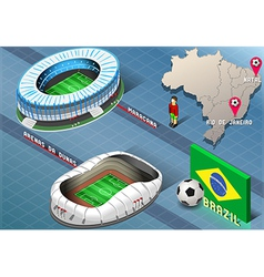 Isometric Stadium of Natal and Rio De Janeiro vector image vector image