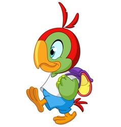 school parrot vector image vector image