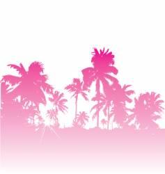 tropical backdrop vector image vector image