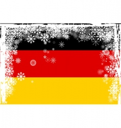german snow vector image vector image