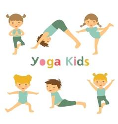 Yoga kids vector