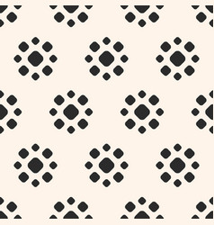 abstract dotted seamless pattern floral texture vector image