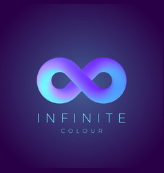 abstract infinity symbol with modern vector image