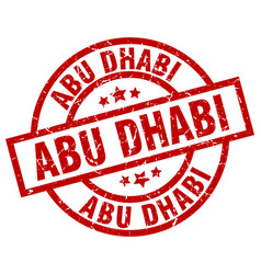 Abu dhabi red round grunge stamp vector