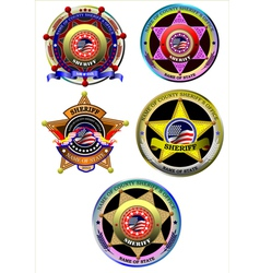 al 0837 sheriff set vector image