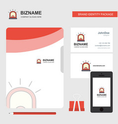 alarm business logo file cover visiting card and vector image