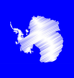 antarctic map vector image