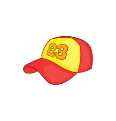 Baseball cap icon cartoon style vector