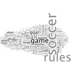 Basic soccer rules vector