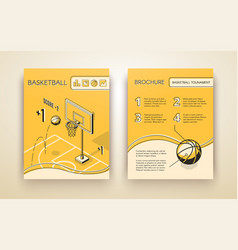 basketball match invitation print template vector image