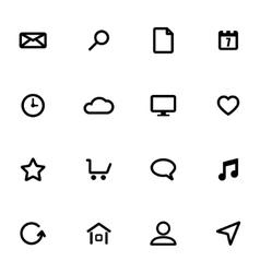 black universal icons set vector image