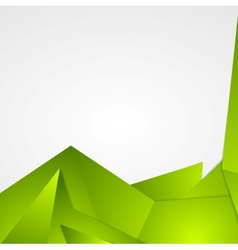Bright green abstract background design vector image