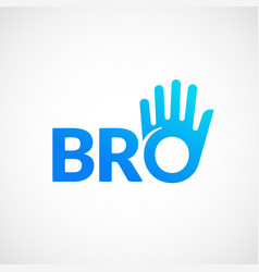 Bro or borther abstract sign emblem or vector