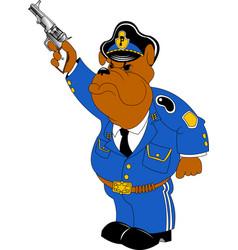 Bulldog policeman with a gun vector
