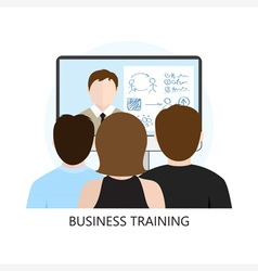 Business Training Icon Flat Design vector image