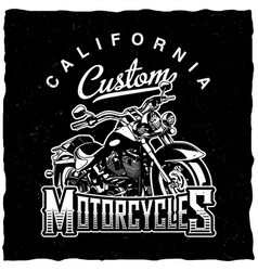 California custom motorcycles poster vector