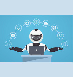 Chat bot robot virtual assistance vector