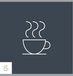 coffee cup related line icon vector image