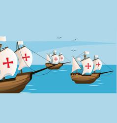 Columbus day cartoons vector