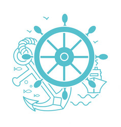 Concept of seafaring icon vector